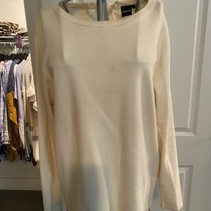 Mono be long sleeve knit sweater with tie back